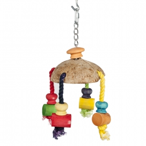 Coconut Carousel Bird Toy