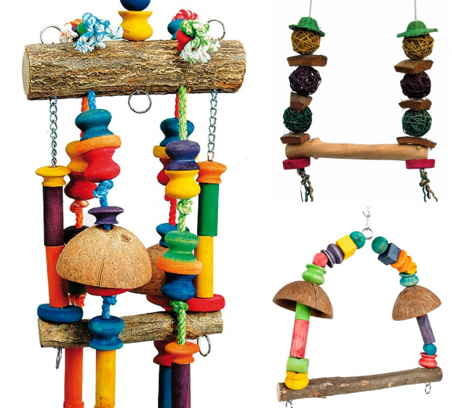 Bird Cage Toys : Rainforest cages large bird toys pack