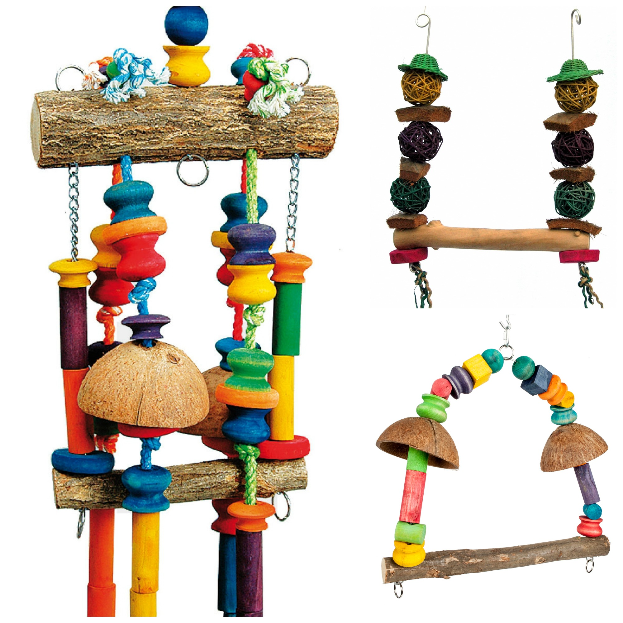 Toys For Bird : Rainforest cages large bird toys pack