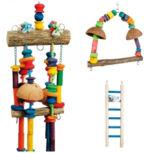 Adventure Bound Bird Toys Pack 3 Large
