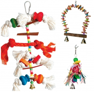 Adventure Bound Bird Toys Pack  4